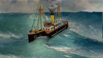 Schiff, Dampfschiff, Meer, Digitale kunst