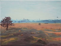 Tempelhofer feld, Berlin, Winter, Landschaft