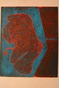 Kupferplatte, Radierung, Druckgrafik