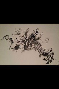 Zeichnung, Abstrakt, Bleistiftzeichnung, Zeichnungen