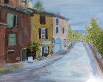 Landschaft, Acrylmalerei, Roussillon, Malerei