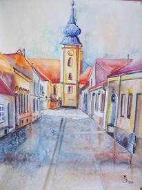 Altstadt, Straßenansicht, Kirche, Alte häuser