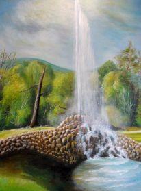 Naturalismus, Malerei, Wasser, Ölmalerei