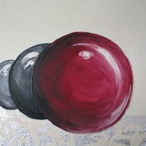 Rot schwarz, Kugel, Malerei