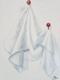 Handtuch, Tuch, Rot schwarz, Kleiderhaken