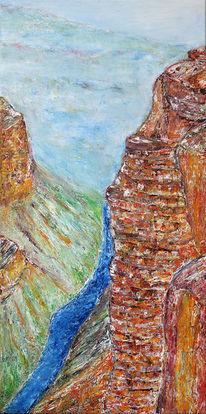 Acrylmalerei, Abstrakt, Malerei, Tal