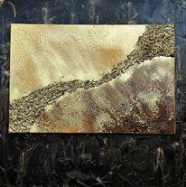 Abstrakt, Mischtechnik, Acrylmalerei