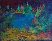 Fantasie, See, Wald, Malerei