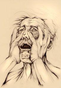 Gesicht, Krankheit, Politik, Wahnsinn