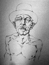 Schmerz, Surreal, Mann, Zeichnung