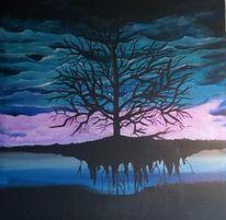Traum, Weiß, Baum, Blau