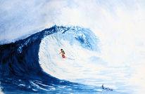 Natur, Wasser, Welle, Aquarell