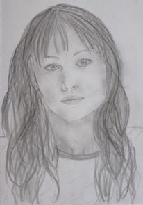 Weiblich, Portrait, Frau, Jung