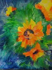 Hell sommer sonnenblumen, Malerei, Sonnenblumen