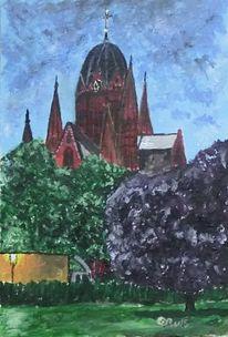 Kirche, Berlin, Heilig, Abend