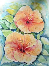 Malen, Pflanzen, Blüte, Aquarellmalerei