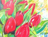 Pflanzen, Sonne, Acrylmalerei, Tuple