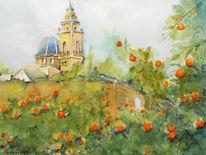 Landschaft, Plantage, Dekoration, Spanien