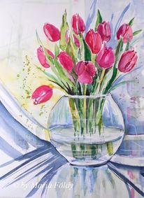 Aquarellmalerei, Sonne, Glas, Malerei