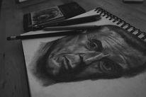 Bleistiftzeichnung, Mann, Alt, Schauspieler