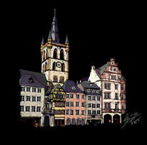 Trier, Grafiktablet, Digital painting, Architektur
