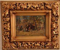 Gemälde, Malen, Signatur, Pinnwand
