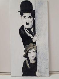 Szene, Chapin, Acrylmalerei, Film