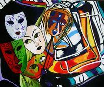 Ölmalerei, Expressionismus, Malerei, Stillleben