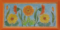 Muttertag, Blumen, Karte, Zeichnungen