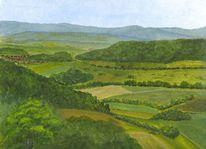 Acker, Tal, Landschaft, Berge