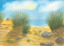 Dünen, Meer, Malerei