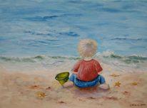 Strand, Wasser, Meer, Kind