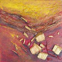 Holz, Struktur, Abstrakt, Rot