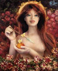 Rossetti, Puppe, Frau, Figural