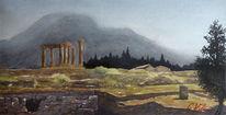 Landschaft, Malerei, Aquarellmalerei, Griechenland