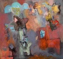 Heide, Abstrakt, Figur, Malerei