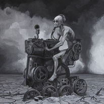 Portrait, Surreal, Acrylmalerei, Figural