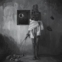 Acrylmalerei, Figural, Surreal, Portrait