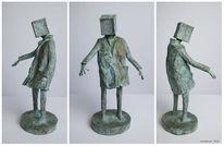 Surreal, Kubus, Skulptur, Figural