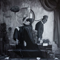 Figural, Surreal, Malerei, Treue