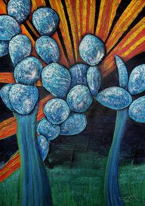 Kaktus, Nachtlilie, Ludwigia, Blumen