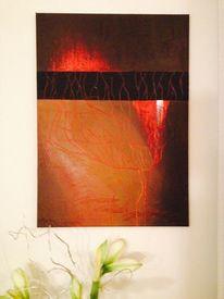 Abstrakt, Riss, Acrylmalerei, Struktur