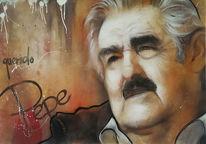 Mujica, Präsident, Portrait, Graffiti