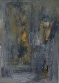 Acrylmalerei, Komposition, Vertikal, Malerei