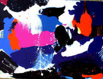 Acrylmalerei, Informel, Komposition, Malerei