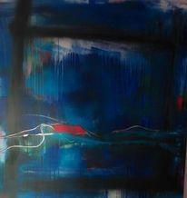 Informel, Komposition, Blau, Malerei