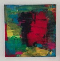 Informel, Komposition, Rot, Malerei