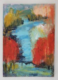 Komposition, Natur, Acrylmalerei, Malerei