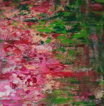 Acrylmalerei, Komposition, Rot, Malerei