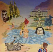 Ölmalerei, Hadesl, Barcelona pur, Dalí
